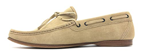 HANDMADE ITALY Calfskin Suede Tassel Loafer 'Smooth Leather Sole' 10.5 F UK ; 11.5 US