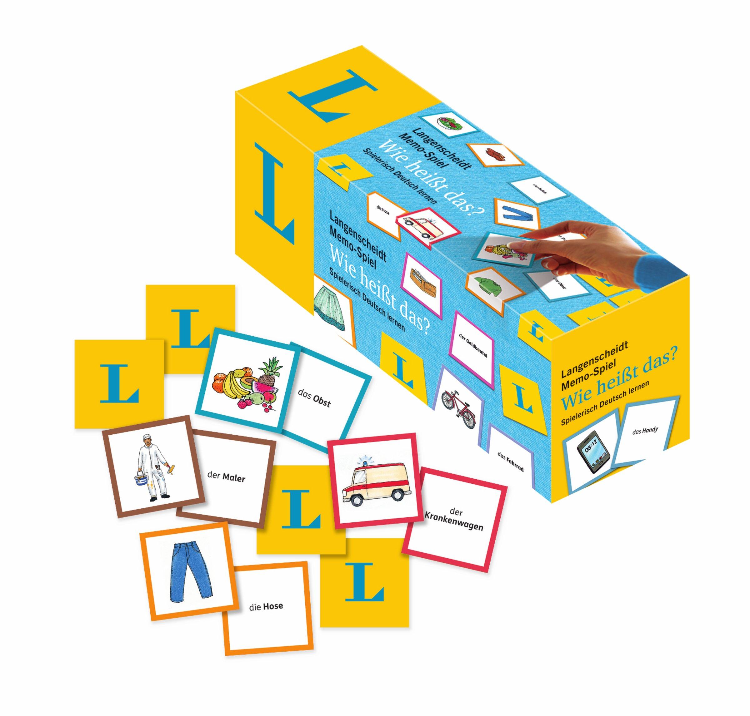 """Langenscheidt Memo Spiel """"Wie heißt das """" Memo Spiel in einer Box"""