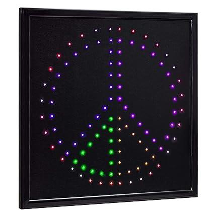 Amazon.com: American Art Decor Letrero de paz LED para ...