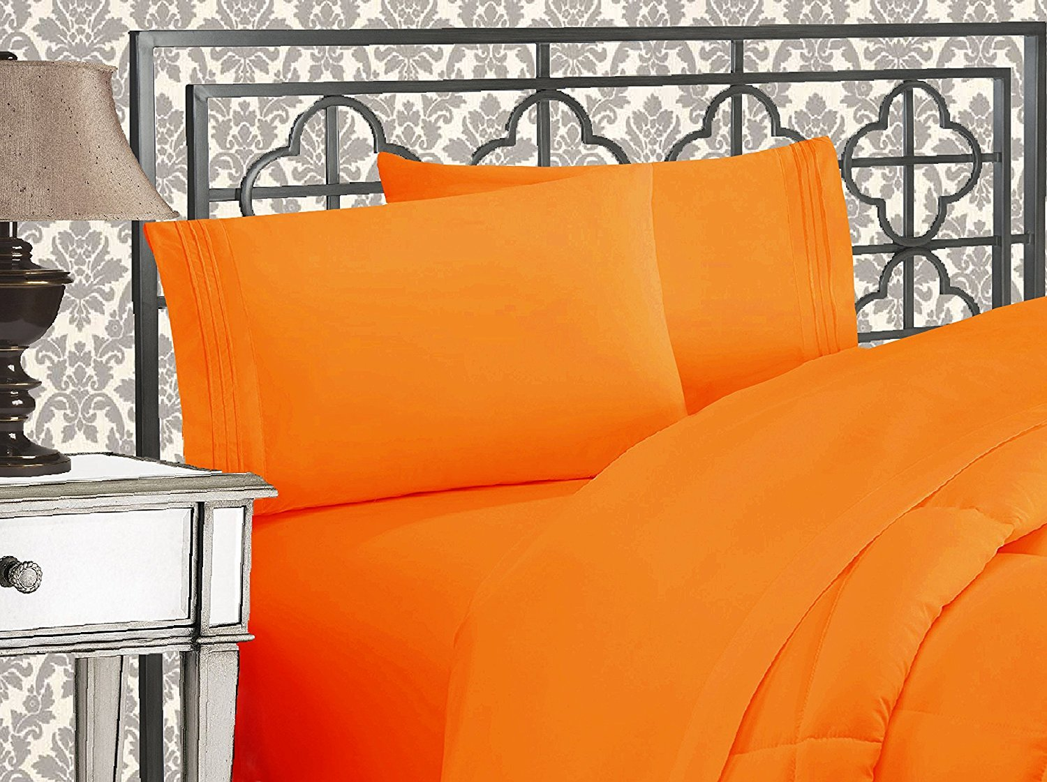 Elegant Comfort 1500 Thread Count King Orange