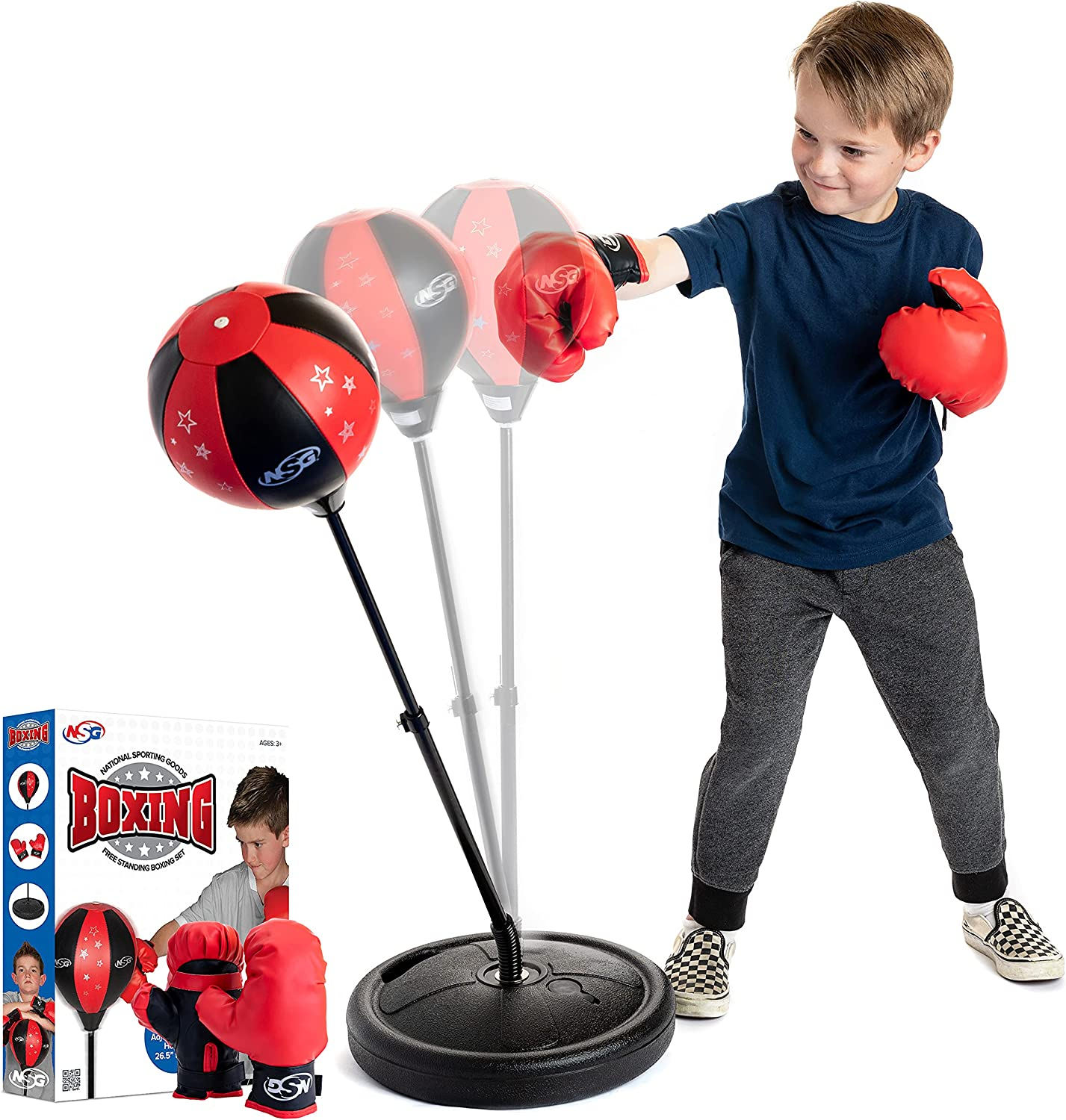 Details about  /Punching Ball Bag Boxing Punch Exercise Sports Set With Gloves Adjustable Height