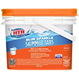 HTH 28004 Blue Sparkle Skimmer Tabs Swimming Pool Clarifier, 5.5 lbs