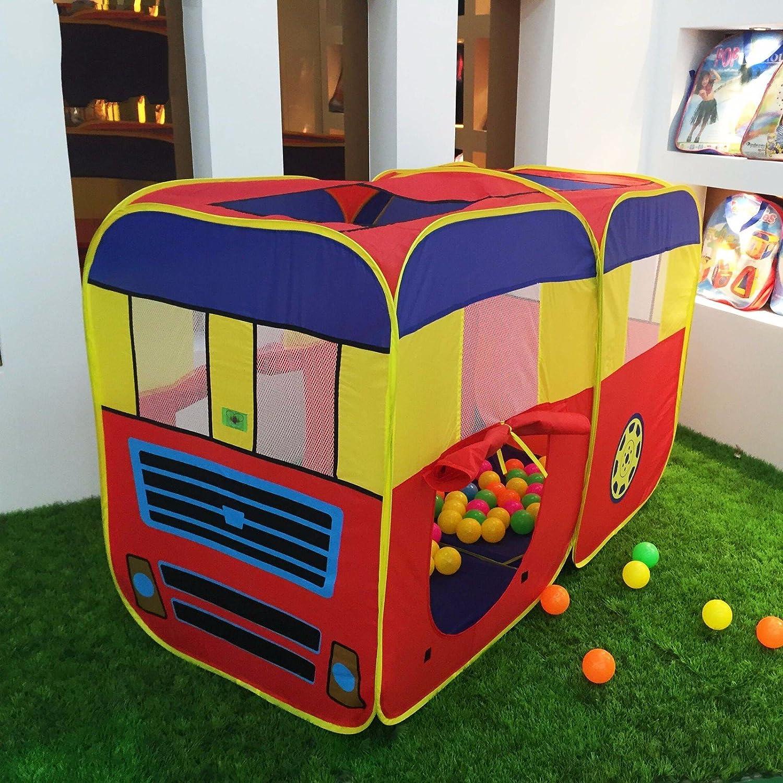 ZHUDJ Das Spielzeug Haus Bus Zelt Kind Auto Spiel Haus Großer Toy House House Spiele, Gelb