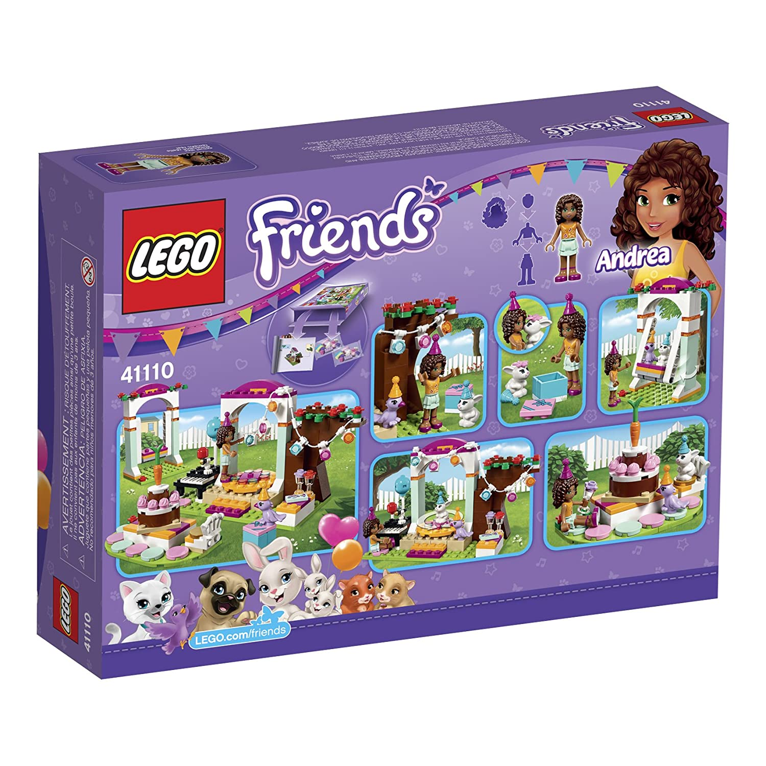 Amazoncom Lego Friends Birthday Party 41110 Toys Games