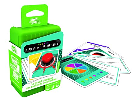 Cartamundi 100205034 - Baraja de Cartas Shuffle, Modelo: Trivial Pursuit (versión Francesa)