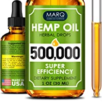 Hemp Seed Oil Drops 500,000 - Premium Colorado Seed Extract - Natural Omega 3, 6...