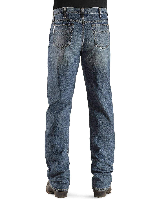 Cinch Men's Jeans White Label Relaxed Fit Medium Stonewash Light Stone 34W x 36L