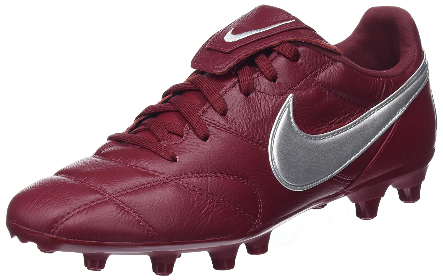 NIKE The Premier II Fg, Scarpe da Calcetto Indoor Uomo Metallic Silver/Team Red 606 38.5 EU 917803