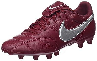 8ea024611 Nike Herren The Premier Ii Fg Sneakers, Mehrfarbig Metallic Silver/Team Red  606,