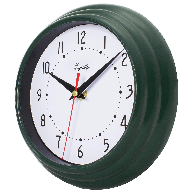Equity by La Crosse 25019 8 Inch Hunter Green Analog Quartz Wall Clock,