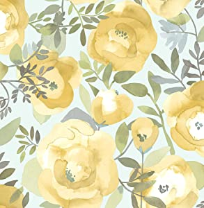 NuWallpaper NU3036 Peachy Keen Yellow Peel & Stick Wallpaper