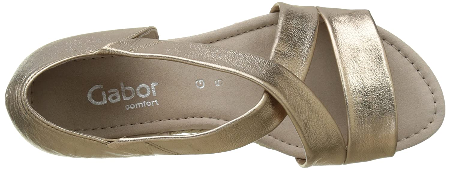 Gabor Shoes Damen Comfort Plateau, Braun (Wallaby (Jute) 32