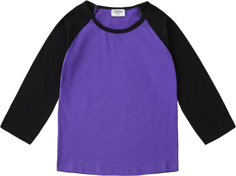 CREATOR Toddler Baby Girls Boys Long Sleeve Shirts Raglan Shirt Baseball Tee Cotton T-Shirt