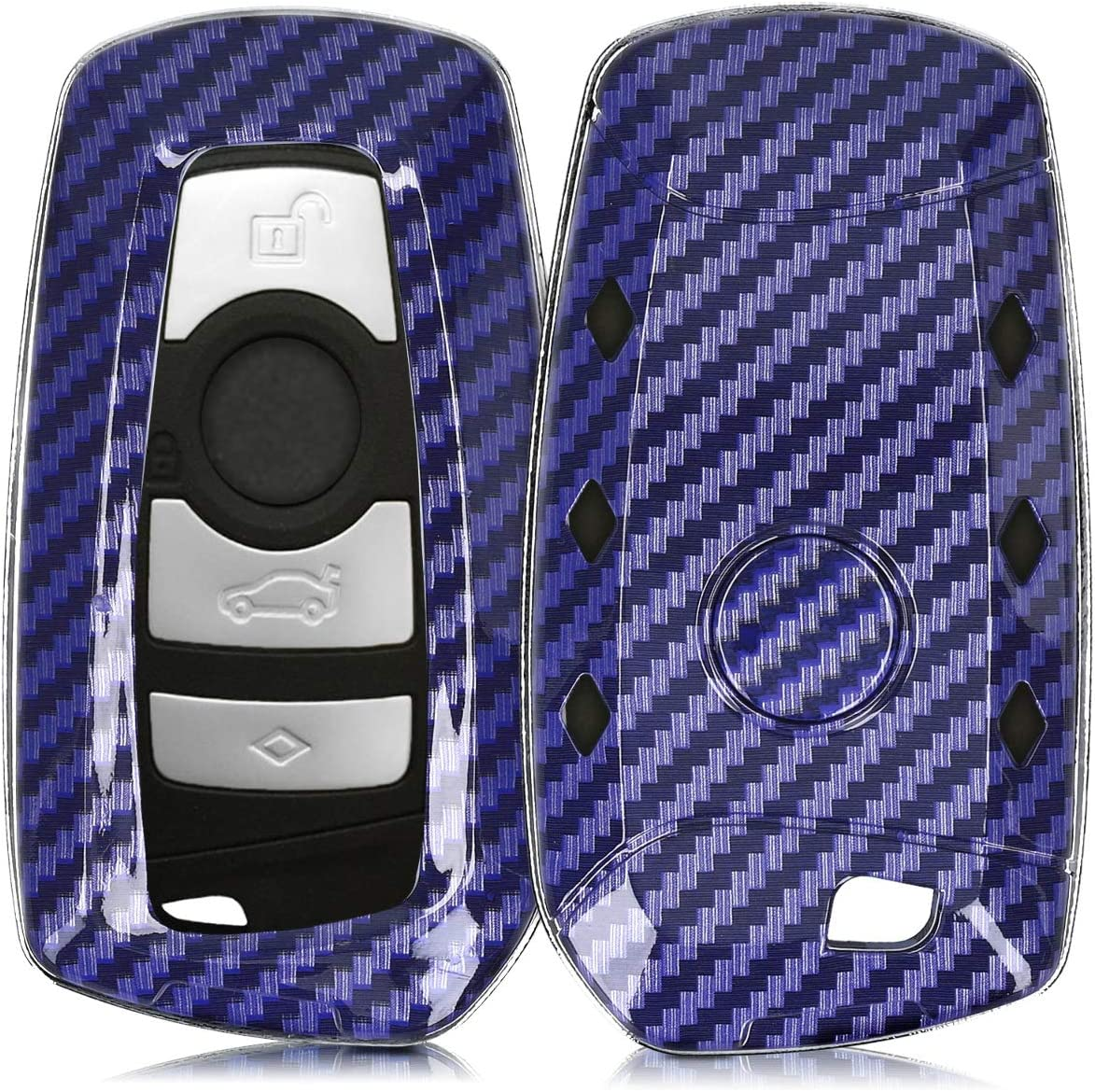 kwmobile Key Cover Compatible with BMW Carbon