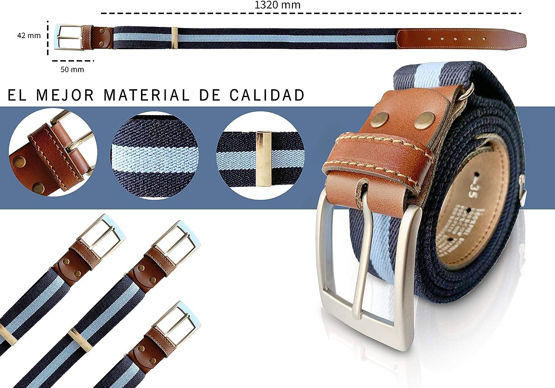 cinturon elastico con cuero marron piel de Ubrique como nuestras carteras y accesorios. LEGADO Cinturon hombre y pulsera bandera Espa/ña