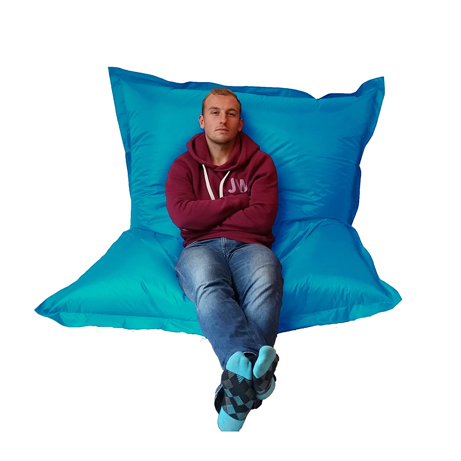 Amazon.com: Extra Large Giant Beanbag Teal Blue - Indoor ...