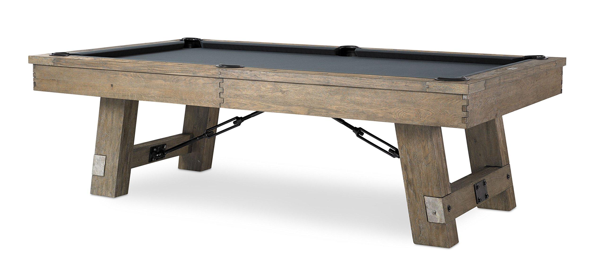 Plank & Hide Isaac 8 ft Billiards Pool Table - Silvered Oak