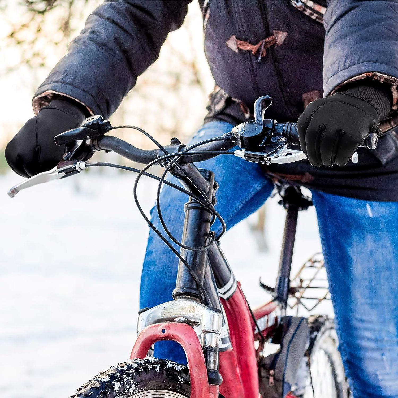 Wasser Heyu-Lotus Winterhandschuhe f/ür M/änner /& Frauen und Winddichte Touchscreen-Laufhandschuhe Thermohandschuhe f/ür Outdoor-Sportarten Laufen Radfahren Wandern Fahren