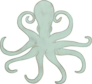 Primitives by Kathy Beach House Shaped Wall Decor, 21.5 x 20-Inches, Octopus