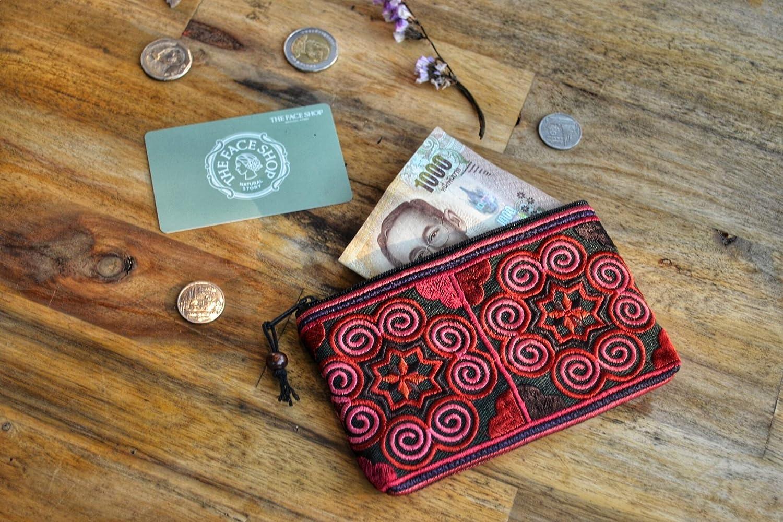 Amazon.com: Monedero hippie de algodón, monedero pequeño ...
