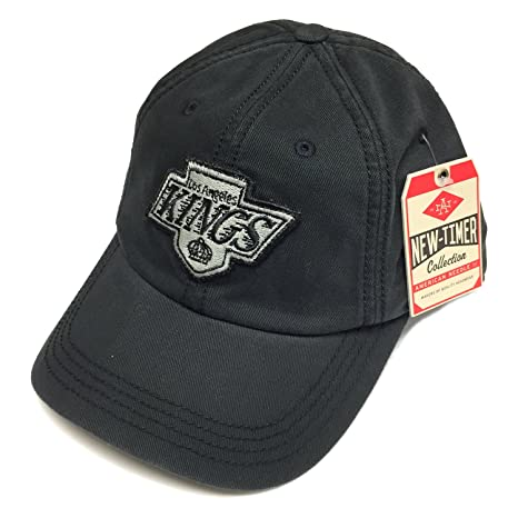 ec7ae067fdc03 Image Unavailable. Image not available for. Color  American Needle NHL LA  Kings New Timer Slouch Black Vintage Adjustable Snapback Hat