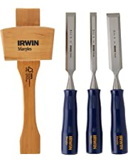 Irwin Tools 1788114 Woodworking Chisel Set Case, 4-Piece