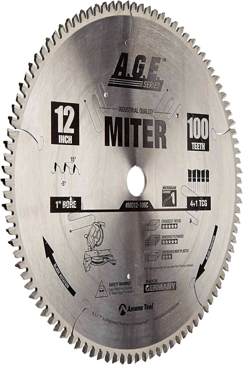 Amana Tool A.G.E. Series MD12-106 Heavy Duty Blade