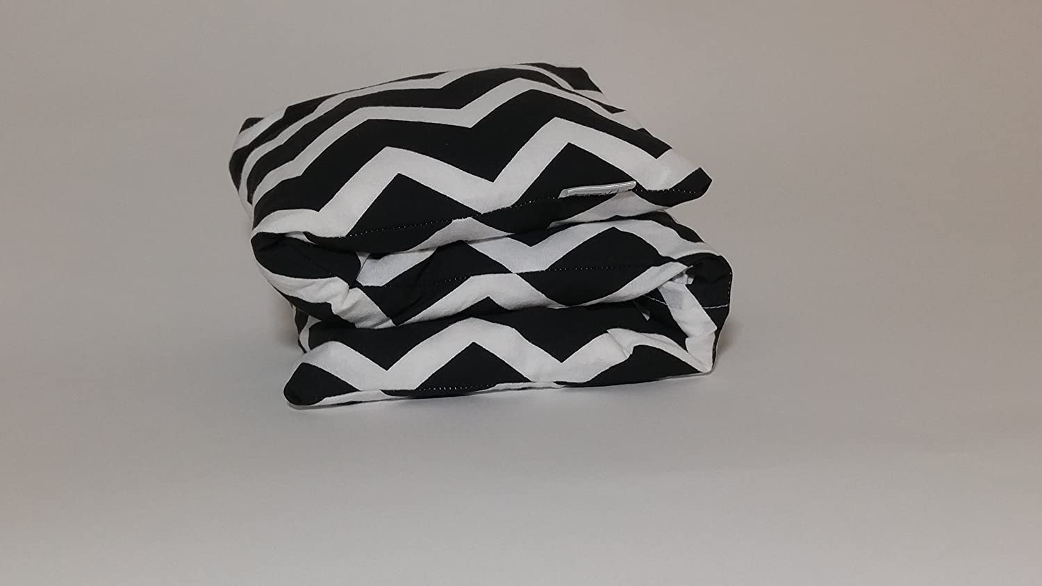 Microwaveable Heating Pad and Cold Therapy Bag with Washable Cover. Barley Buddy Filled with Barley. Black and White Chevron