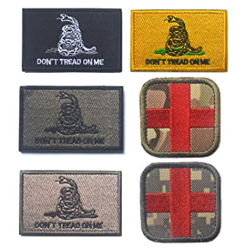 Bundle 6/5/7 Embroidered Military Patch Velcro Patches Blood