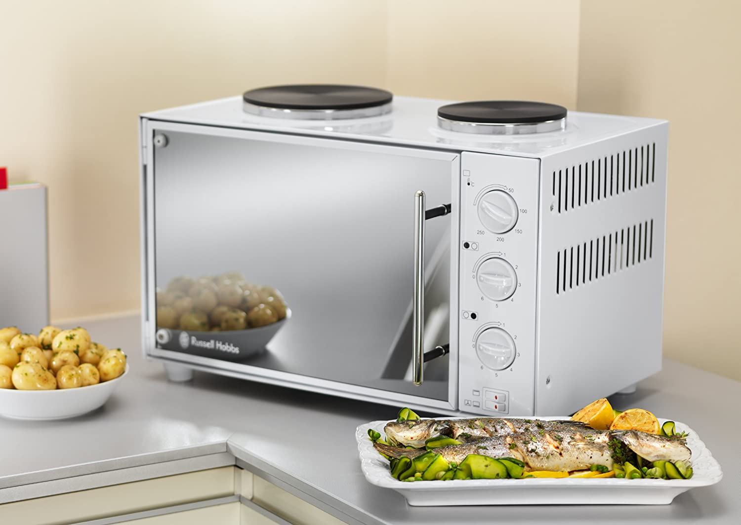 Russell Hobbs Mini Kitchen with Convection Oven and 2 Hot Plates ...