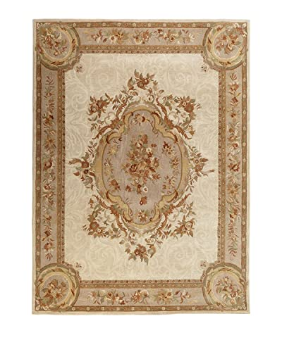 Safavieh Empire Collection EM414C Handmade Traditional European Ivory and Light Grey Premium Wool Area Rug 6 x 9