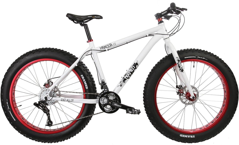 Amazon.com : Framed Minnesota 2.0 Fat Bike White/Red Sz 16\