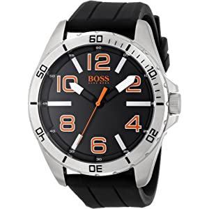 HUGO BOSS Orange Mens 1512943 Big Time Analog Display Quartz Black Watch