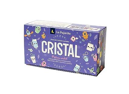 La Pajarita 999994C, Kit Pintura Cristal al Agua + Pincel, 6 ...