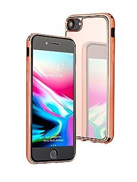JMi [ Apple iPhone 7, Oro Rosa ] Funda de Espejo - Funda de Espejo - Espejo de Lujo - Espejo de Parachoques - Espejo de Maquillaje - Funda (Nuevo ...