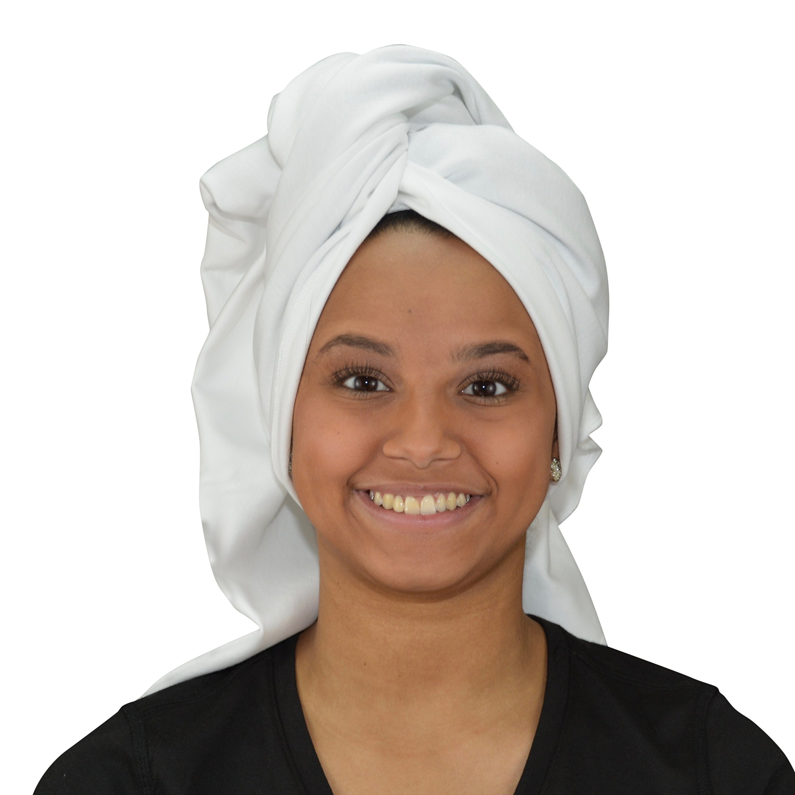 100% Cotton Absorbent T-Shirt Towel WHITE (49 X 32in) Have Healthy Hair Without The Damage or Frizz