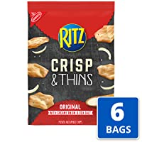 Deals on 6-Pk RITZ Crisp and Thins Original w/Creamy Onion and Sea Salt