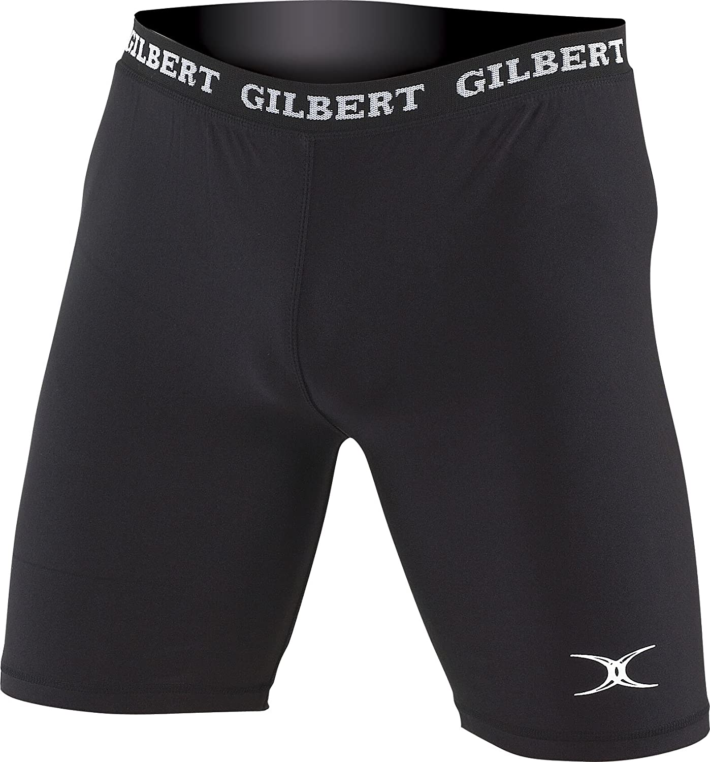 Gilbert Rugby Lycra Sous-shorts Baselayer Hommes Coupe Compression Collant Seconde Peau Short