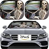 MSD Car Sun Shade for Windshield Universal Fit 2 Pack Sunshade