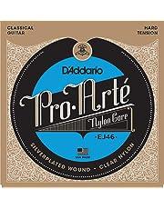 D'Addario EJ46 - Juego de Cuerdas para Guitarra Clásica de Nylon (Tensión Alta), Transparente