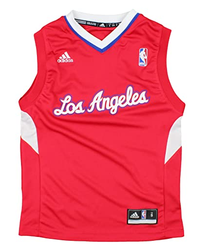 1ac8e8263fb Los Angeles Clippers NBA Youth Big Boys Logo Road Replica Jersey - Red  (Small (