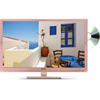 Sharp LC-24DHF4011KR 24 Inch HD Ready LED TV with Freeview HD, Built-In DVD Player, 2 x HDMI, Scart, USB Record and Media Player - Rose Gold
