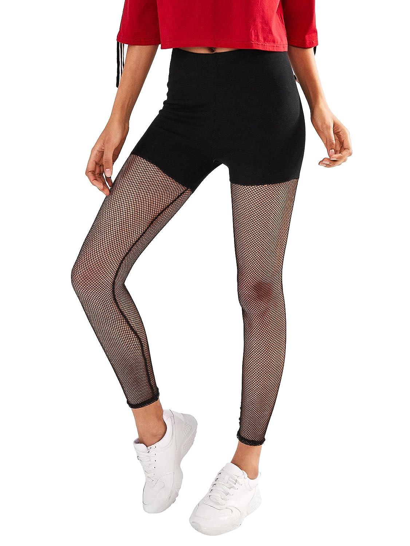 6d5eedf14bb9e SweatyRocks Women's Mesh Workout Leggings Stretch Yoga Pants Black S at  Amazon Women's Clothing store: