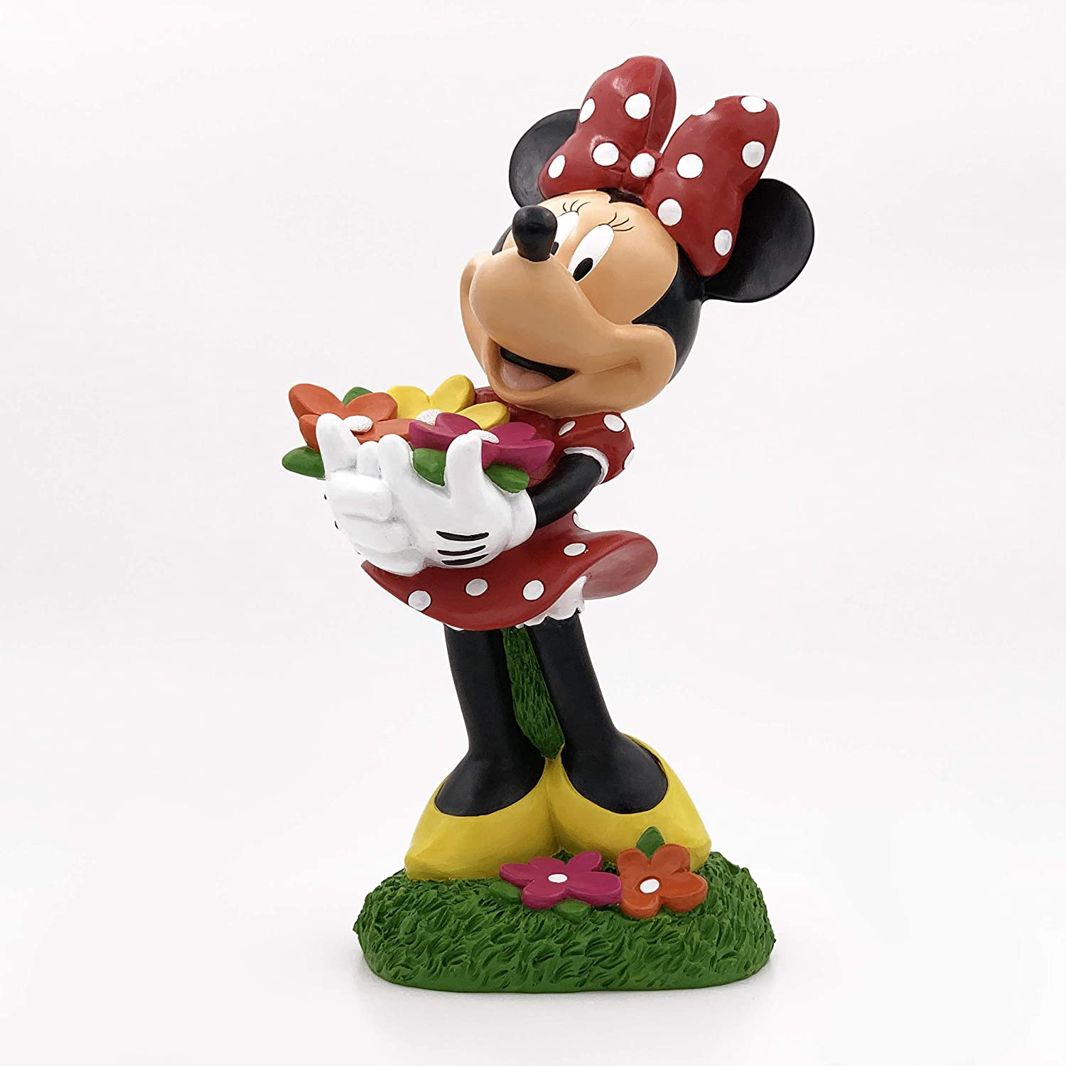The Galway Company Large Minnie Mouse Picks Summer Flowers. Official Disney Product, Large 14 Inches Tall and 7 Inches Wide, Made of Stone Resin.