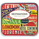Cavallini & Co. Destinations Decorative Stickers in a Tin - Assorted (24 Sheets)