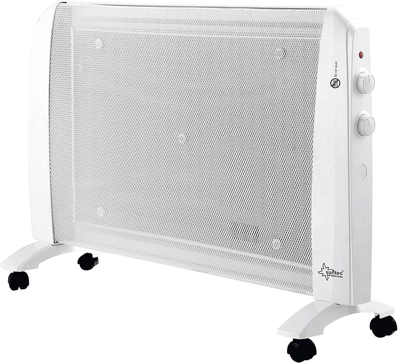 Suntec infrarrojo de onda térmica Heat Wave Style Eco [para habitaciones de hasta 25 m³ (~ 11 m²), Wellness de calor sin corrientes de aire + Buen años climática, 2 niveles de calor, Max. 2000 W]