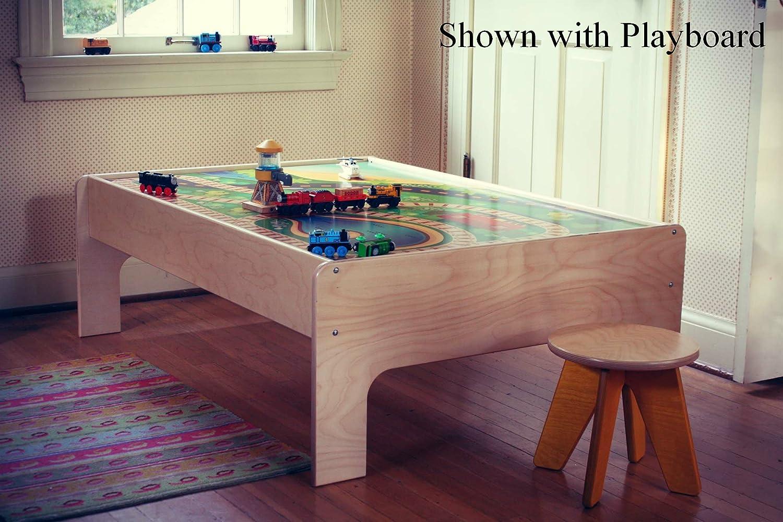 Amazon sodura birch wood kids train table toys games geotapseo Choice Image