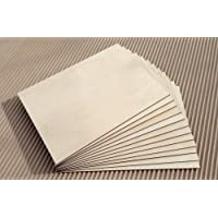 3 x A4 Baltic Birch Plywood Sheet – Perfect for Pyrography, Laser-Cutting, CNC Router, Modelling, Fretwork, Scroll Saw - (300mm x 210mm x 3mm)
