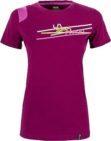 La Sportiva Camiseta de escalada para mujer, diseño de rayas ...