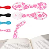 Book Light for Reading ★ Pink Flower Clip on LED Bookmark ★ The Flexilight is Ideal for Reading in Bed and Makes a Great Birthday Gift ★ Batteries Included